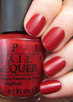 OPI Cinnamon Sweet - Agent Peggy Carter's polish of choice!