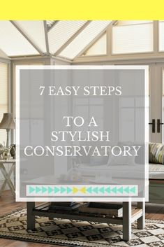 Lots of great ideas and advice on how to create a stylish conservatory that suits your home and your decor style. Click through to find out which is your favourite tip.