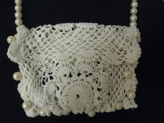 Vintage Crochet Purse Made From Doily by BalancingActDesigns, $16.00