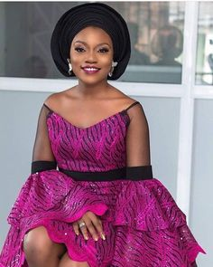Hello Fashionistas Today we bring you Latest And Ravishing Aso Ebi Styles From Last week Events.These Aso Ebi styles Are Gorgeous and Extremely Beautiful To try Short Ankara Dresses, African Lace Dresses, Latest African Fashion Dresses, African Inspired Fashion, African Print Fashion, Africa Fashion, Ankara Tops, African American Fashion, African Prints