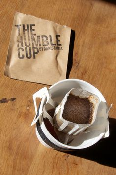The Humble Cup, a brilliant invention--a single serving of roasted coffee that comes in a innovative pop-up filter and dripper combo. Downside is it's as much as a regular latte, in a 3-pack for $9.
