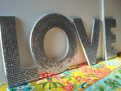 making these letters for my kitchen!!! but they'll say something different, unsure of what.