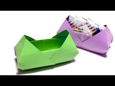 This is a video how to make origami box using rectangular size paper such as size or letter paper.You need only one piece of … Origami Star Paper, Origami Ball, Origami Hearts, Origami Flowers, Oragami, Origami Instructions, Origami Tutorial, Gato Origami, Carton Diy