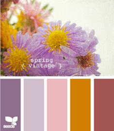 "this color scheme makes me think of daughter.  ""spring vintage"""