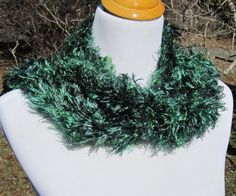 Green Knit Scarf by PoppyLesti on Etsy, $40.00