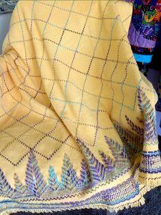 Tangerine Swedish Weaving Blanket