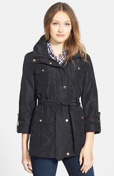 Cotton Blend Short Trench Coat | Coats, Shops and Trench