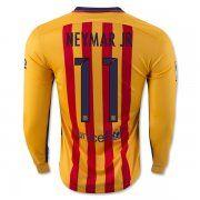 42795084b ... 15-16 Football Shirt Barcelona Cheap NEYMAR JR 11 Long Sleeve Away  Replica Jersey ...
