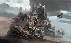 Enjoy the Art of Mortal Engines in a Concept Art Collection by Ian McQue. Ian is a concept artist/illustrator. Steampunk Airship, Dieselpunk, Mortal Engines, Sci Fi City, Zombie Apocalypse Survival, City Landscape, Punk Art, Visual Development, Sci Fi Books