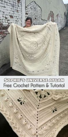 Sophie's Universe Afghan has become wildly popular amongst crochet fans. This complicated square blanket pattern comes with a video tutorial which will lead you step by step. Sophie's Universe Afghan [Free Crochet Pattern and Tutorial]. Crochet Afgans, Crochet Fox, Crochet Crafts, Crochet Projects, Crochet Blankets, Crotchet, Vintage Crochet, Crochet Lace, Afghan Crochet Patterns