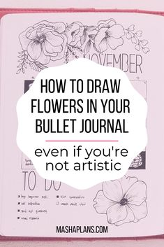 I'd say the most popular way to decorate your Bullet Journal is with flower doodles. I'm here to tell you it's also pretty easy, even if you never drew a flower in your life! Believe me a year ago neither… Continue Reading → How To Bullet Journal, Bullet Journal Junkies, Bullet Journal Ideas Pages, Bullet Journal Layout, Bullet Journal Inspiration, Journal Pages, How To Journal, Bullet Journals, Bullet Journal Prompts