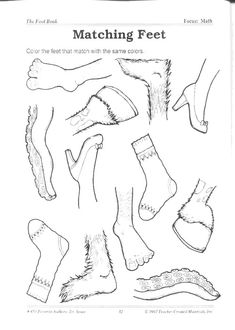 """Storytime and More: Dr. Seuss """"The Foot Book"""" activities"""
