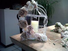 My Shabby Chic Birdcages :  wedding birdcage brown candelabra ivory reception shabby chic 281981 10150318793341280 627006279 9716528 7675632 N