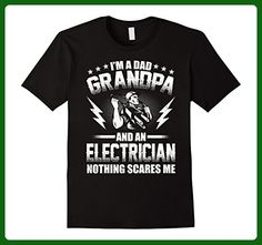 Mens I'm A Dad Grandpa T-Shirt Electrician Father's Day XL Black - Relatives and family shirts (*Amazon Partner-Link)