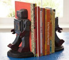 robot book ends