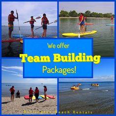 #Teambuilding on the beautiful #BurlOn beach!! Let us customize a program for your team! Unforgettable, fun & effective!