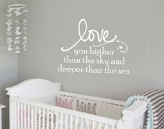 Love you higher than the sky and deeper than the sea by wallstory