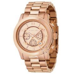 MICHAEL KORS Oversize Runway Chronograph Rose Gold
