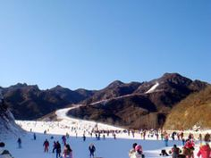Huaibei Ski Resort near Beijing  Surrounded by the great wall  open December until late March