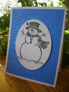 Glittery Embossing-Frosty by stampin'nana - Cards and Paper Crafts at Splitcoaststampers