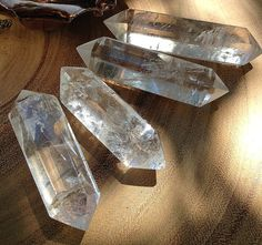 Double Terminated clear quartz points by TheSageGoddess on Etsy, $30.00