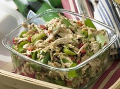 Grab your favorite no carb salad toppings and a protein and presto...lunch!