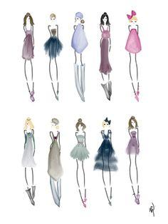 A wardrobe #fashion #fashionillustration #bybc