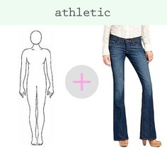 how to find the perfect jeans for your body type if you have an ATHLETIC shape