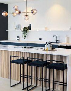 Open Plan Kitchen Living Room, Kitchen Room Design, Modern Kitchen Design, Interior Design Kitchen, Kitchen Decor, Küchen Design, House Design, Cuisines Design, Home Kitchens