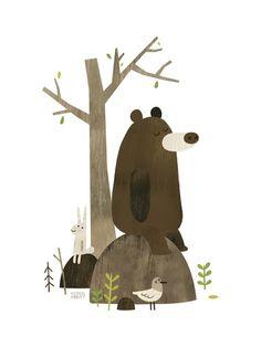 Super cute bear illustration by Miam Illustartions on Tumblr!