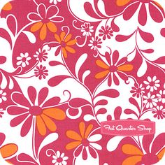 orange and pink floral