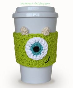 Free Crochet Monster's Inc. Mike cozy pattern by The Enchanted Ladybug