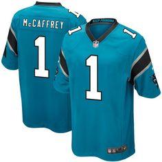 Christian McCaffrey Carolina Panthers Nike Youth 2017 Draft Pick Game Jersey - Blue