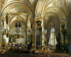 """Gau Edward Petrovich - """"Interiors of the Winter Palace Living Room"""""""