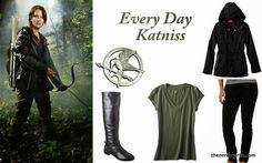 The Nerdy Girlie: Every Day Cosplay Katniss #TheHungerGames