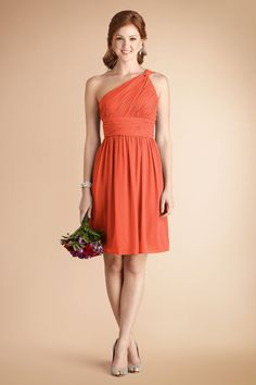 the warm #Corabell color of our Rhea dress works perfectly for a country wedding