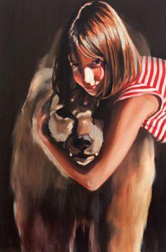 Shira Glezerman #art #paintings http://artsyforager.wordpress.com/2011/09/30/friday-faves-where-the-wild-things-are/