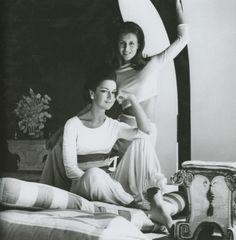 Countess Consuelo Crespi and daughter Pilar Crespi