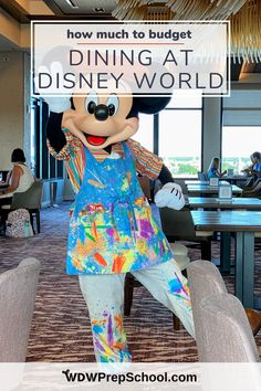 Food costs can really add up on a Disney World vacation. We have lots of tips (and a giant spreadsheet!) that can help you know just exactly how much to budget. Dining At Disney World, Disney World Food, Disney Dining Plan, Disney World Florida, Disney World Vacation, Disney Vacations, Disney Trips, Walt Disney World