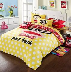 Paul Frank Duvet Yellow Comforter Sets Yellow Comforter Set, Comforter Sets, Duvet, Bedding, Paul Frank, Comforters, Blanket, Stuff To Buy, Home