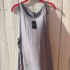 Express tunic Express open shoulder tunic very soft never worn nwt! Express Tops Tees - Long Sleeve