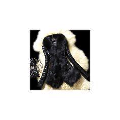 Envío Gratis Abrigo Cuello De Piel Negra Sintetica - $ 1,113.60