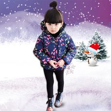 >> Click to Buy << children's winter jackets 2016 new girls parka wadded outerwear thickening with a hood butterfly kids girls winter coat/jackets #Affiliate