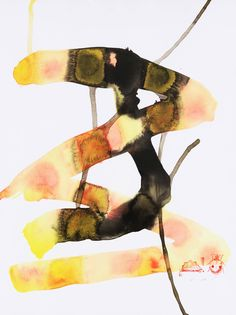 #16 Baccarat   From a unique collection of abstract drawings and watercolors at https://www.1stdibs.com/art/drawings-watercolor-paintings/abstract-drawings-watercolors/