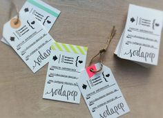 soda pop design business cards via oh, hello friend: you are loved