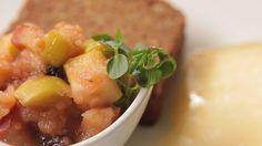 Jablečné chutney Fruit Salad, Cantaloupe, Food, Fruit Salads, Essen, Meals, Yemek, Eten