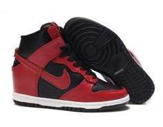 7e743b0db8bc93 Nike Store. Nike Dunk High Womens Shoes - Black Red - Wholesale   Outlet