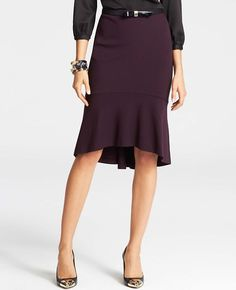 High Low Hem Pencil Skirt Ann Taylor featured in Redbook