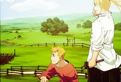 Grown-up Elric brothers.