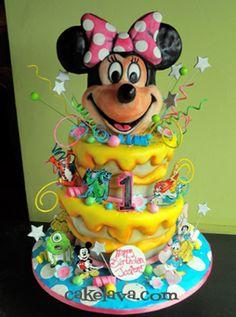 Magical Minnie Birthday Cake